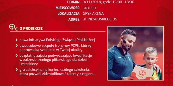 """Mobilna Akademia Młodych Orłów – szkolenie nr 4 """"Kreatywność"""" w hali Gryf Arena"""
