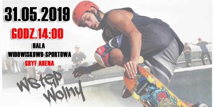 Zawody na skateparku przy Gryf Arenie z okazji Dnia dziecka (31.05.2019)