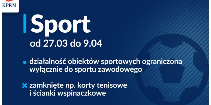 Od 27 marca tylko sport zawodowy !!!