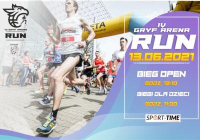 Nowy termin IV Gryf Arena RUN 13.06.2021